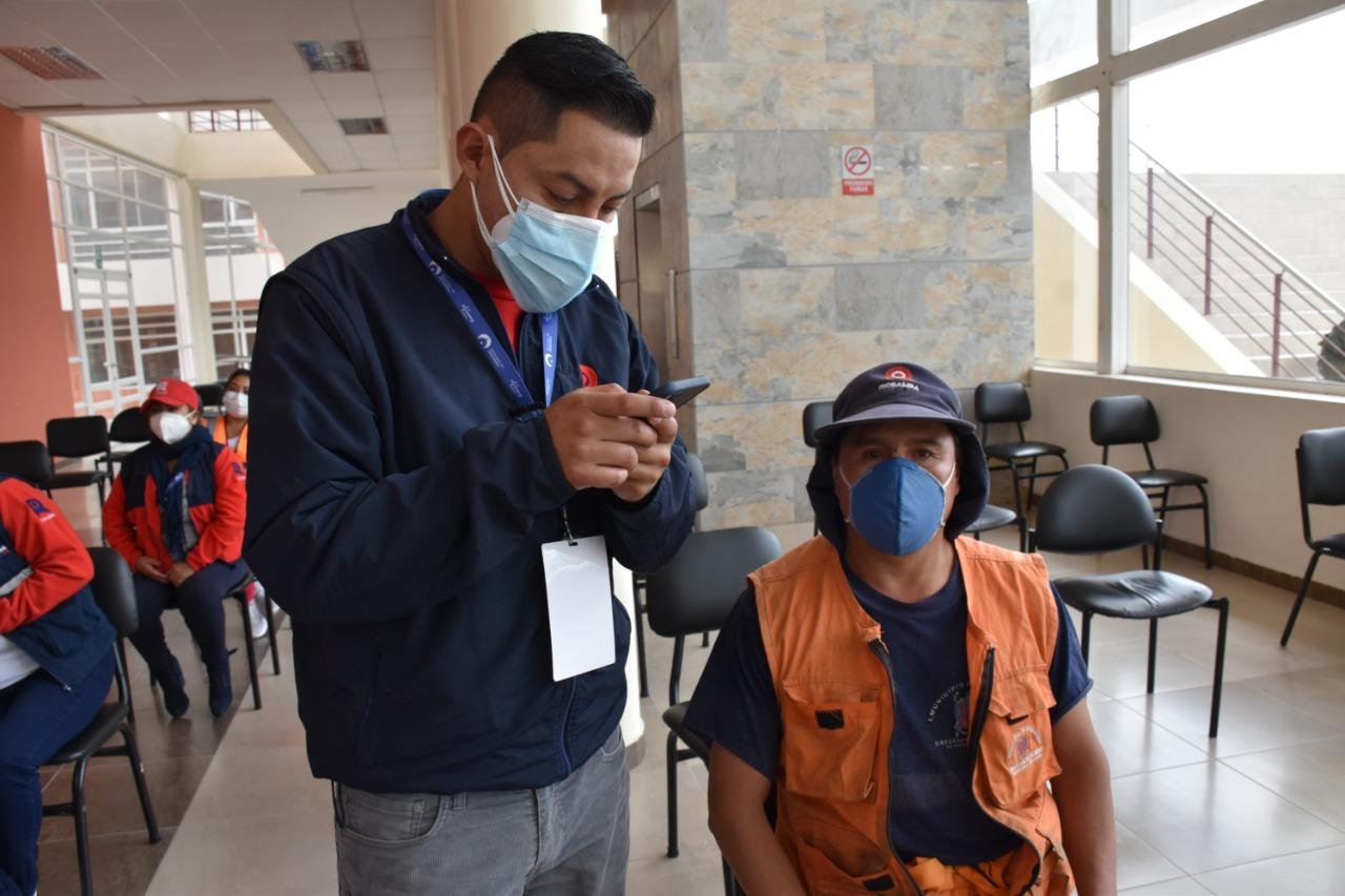 Plan de vacunación se cumplió en beneficio de personal de higiene municipal