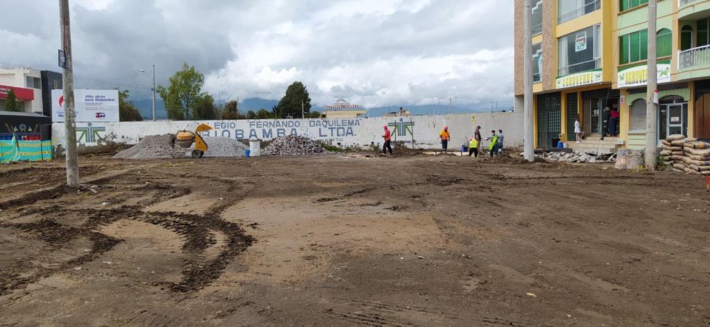 Municipio construye nueva área deportiva y recreativa en la ciudadela Daquilema