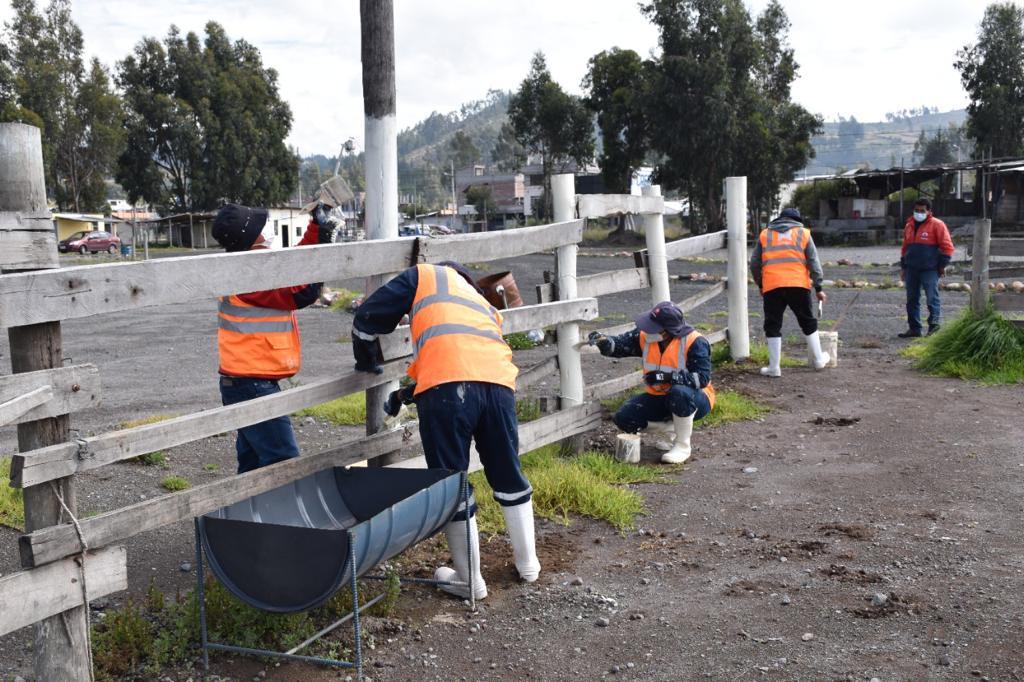 Municipio de Riobamba gestiona la reapertura de la plaza de rastro en Calpi.