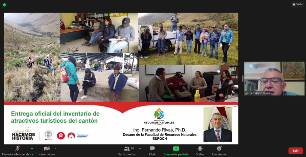 """Municipio y ESPOCH presentaron informe del """"Inventario Actualizado de Atractivos Turísticos del ..."""